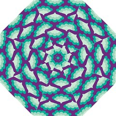 Purple Flower Fan Folding Umbrellas by Jojostore