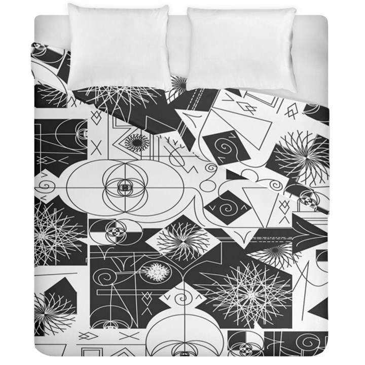 Point Line Plane Themed Original Design Duvet Cover Double Side (California King Size)