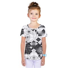 Point Line Plane Themed Original Design Kids  One Piece Tee by Jojostore