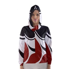 Red Black Hooded Wind Breaker (women) by Jojostore