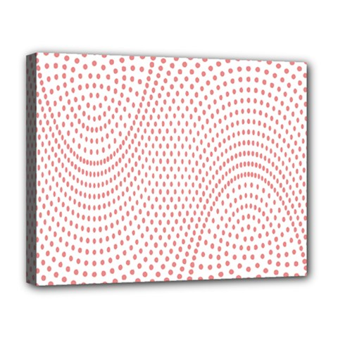 Red Circle Canvas 14  X 11  by Jojostore
