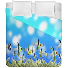 Pisces Underwater World Fairy Tale Duvet Cover Double Side (california King Size) by Nexatart