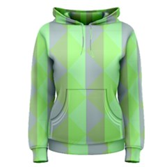 Squares Triangel Green Yellow Blue Women s Pullover Hoodie by Jojostore