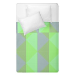 Squares Triangel Green Yellow Blue Duvet Cover Double Side (single Size) by Jojostore
