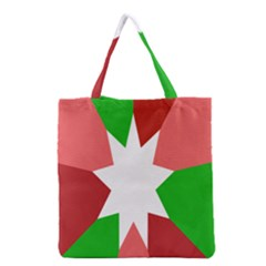 Star Flag Color Grocery Tote Bag by Jojostore