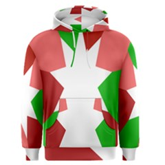 Star Flag Color Men s Pullover Hoodie by Jojostore
