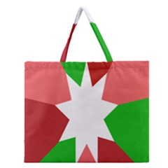 Star Flag Color Zipper Large Tote Bag by Jojostore