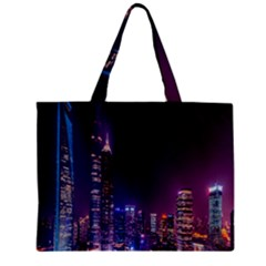 Raised Building Frame Zipper Mini Tote Bag by Nexatart