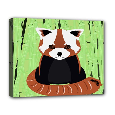 Red Panda Bamboo Firefox Animal Deluxe Canvas 20  X 16   by Nexatart
