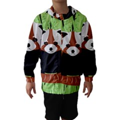Red Panda Bamboo Firefox Animal Hooded Wind Breaker (Kids) by Nexatart