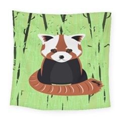 Red Panda Bamboo Firefox Animal Square Tapestry (large) by Nexatart
