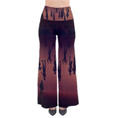Silhouette Of Circus People Pants