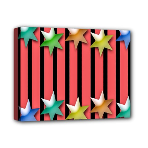 Star Christmas Greeting Deluxe Canvas 14  X 11