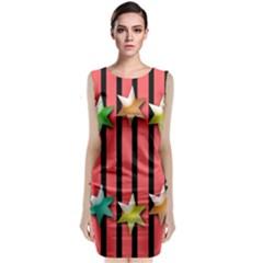 Star Christmas Greeting Classic Sleeveless Midi Dress