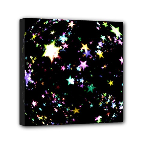 Star Ball About Pile Christmas Mini Canvas 6  X 6