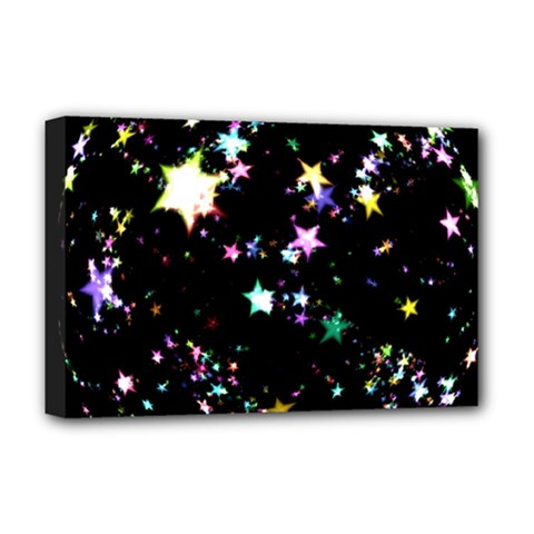 Star Ball About Pile Christmas Deluxe Canvas 18  X 12