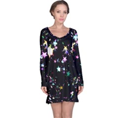 Star Ball About Pile Christmas Long Sleeve Nightdress