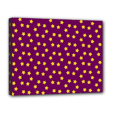 Star Christmas Red Yellow Canvas 14  X 11  by Nexatart