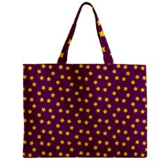 Star Christmas Red Yellow Zipper Mini Tote Bag by Nexatart