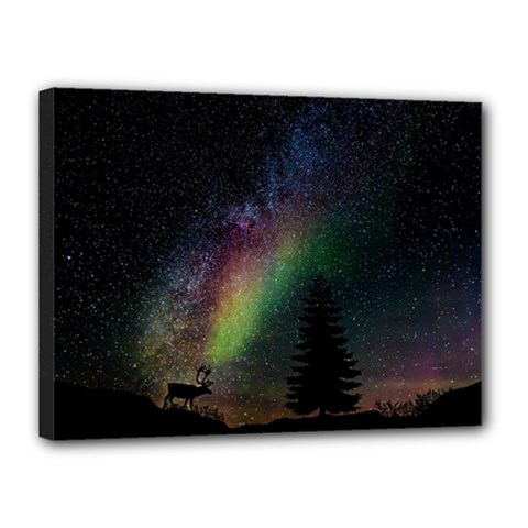 Starry Sky Galaxy Star Milky Way Canvas 16  X 12  by Nexatart