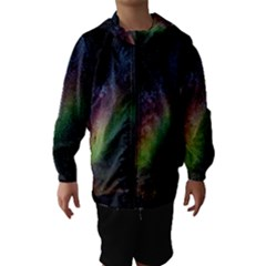 Starry Sky Galaxy Star Milky Way Hooded Wind Breaker (kids) by Nexatart