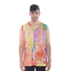 Watercolour Watercolor Paint Ink  Men s Basketball Tank Top by Nexatart