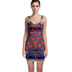 Tree Of Life Sleeveless Bodycon Dress