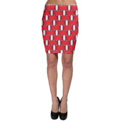 Weave And Knit Pattern Seamless Background Wallpaper Bodycon Skirt