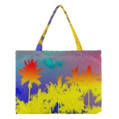 Tropical Cool Coconut Tree Medium Tote Bag by Jojostore