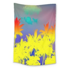 Tropical Cool Coconut Tree Large Tapestry by Jojostore