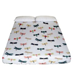 Dragonflies Animals Fly Fitted Sheet (california King Size)