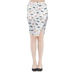 Dragonflies Animals Fly Midi Wrap Pencil Skirt by Jojostore