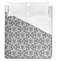 Flower Rose Black Triangle Duvet Cover (queen Size) by Jojostore