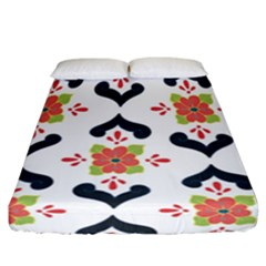 Flower Rose Floral Purple Pink Green Leaf Fitted Sheet (California King Size)