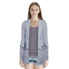 Gray Fashion Dtla District Drape Collar Cardigan