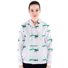 Flying Dragonfly Women s Zipper Hoodie by Jojostore