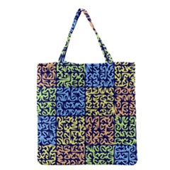 Puzzle Color Grocery Tote Bag