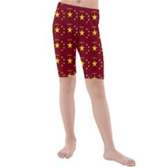 Chinese New Year Pattern Kids  Mid Length Swim Shorts