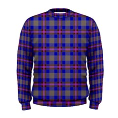 Tartan Fabric Colour Blue Men s Sweatshirt