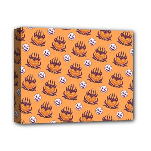 Helloween Moon Mad King Thorn Pattern Deluxe Canvas 14  X 11  by Jojostore
