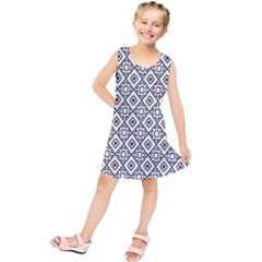 Triangel Plaid Kids  Tunic Dress by Jojostore