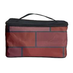 Brick Stone Brown Cosmetic Storage Case by Jojostore