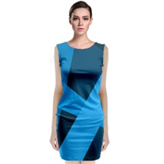 Blue Flag Classic Sleeveless Midi Dress by Jojostore