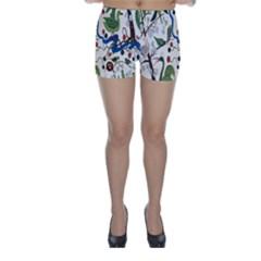 Bird Green Swan Skinny Shorts