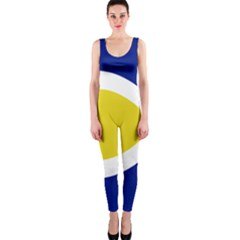Flag Blue Yellow White OnePiece Catsuit