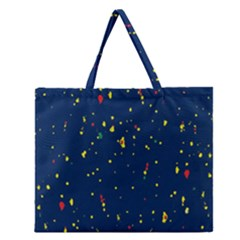 Christmas Sky Happy Zipper Large Tote Bag by Jojostore