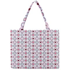 Circle Love Heart Purple Pink Blue Mini Tote Bag by Jojostore
