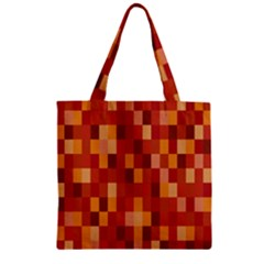 Canvas Decimal Triangular Box Plaid Pink Zipper Grocery Tote Bag by Jojostore