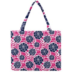 Flower Floral Rose Purple Pink Leaf Mini Tote Bag by Jojostore
