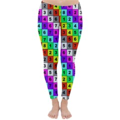 Mapping Grid Number Color Classic Winter Leggings by Jojostore